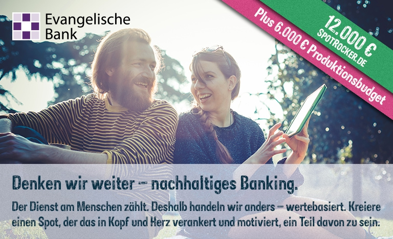 Die Evangelische Bank startet außergewöhnlichen 18.000 € Werbespot-Contest mit SPOTROCKER