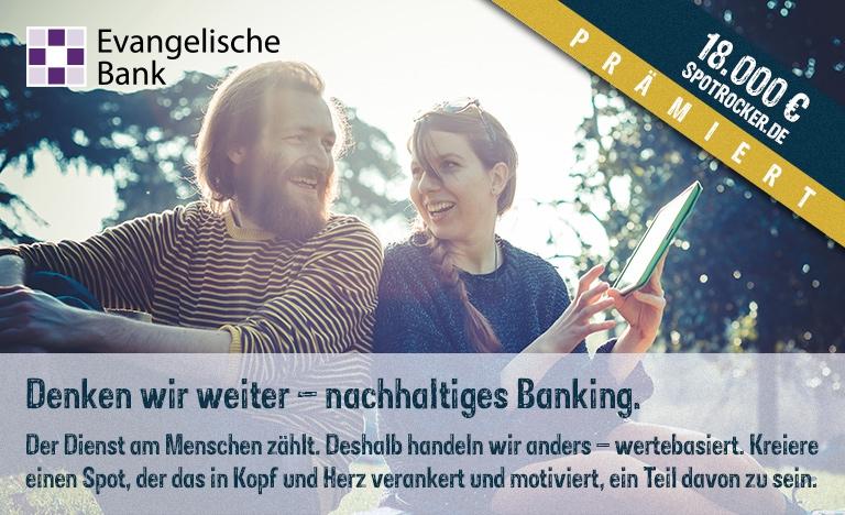 Evangelische Bank Kampagne prämiert!