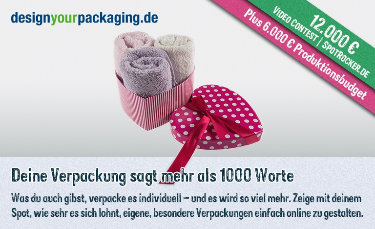 DesignYourPackaging.de / SPOTROCKER: Inspirierender 18.000 € Video Contest